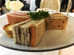 afternoon tea: finger sandwiches