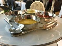 afternoon tea: lemon curd, jams, clotted cream